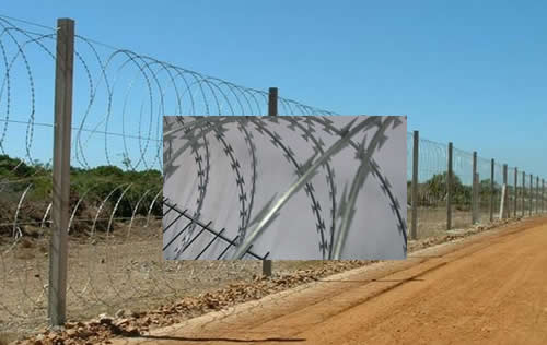 Razor Wire Barrier Fencing-Mobile Barrier System